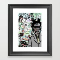 tribute to the late great basquiat. Framed Art Print