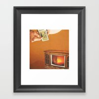 Thus Another Broadcast Day Framed Art Print