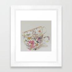 Simple Things, teacups Framed Art Print