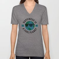 Happiness Is A Cool Planet Unisex V-Neck