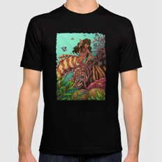 Tropical Beauty SMALL Black Mens Fitted Tee