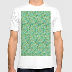 Floral2 Mens Fitted Tee SMALL White