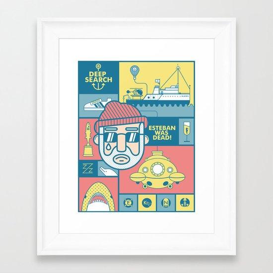 The Life Aquatic With Steve Zissou Framed Art Print