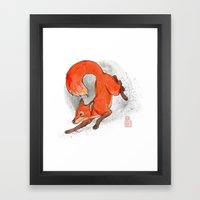 Fox Neighbor Framed Art Print