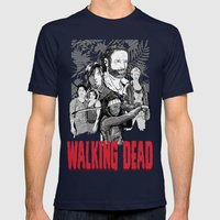 Walking Dead Mens Fitted Tee Navy SMALL