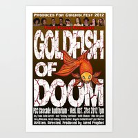Goldfish of Doom - Poster 2 Art Print