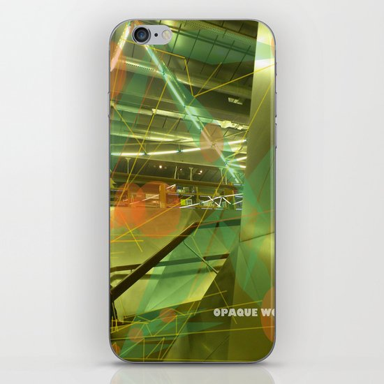Photographer of steel stairs iPhone & iPod Skin