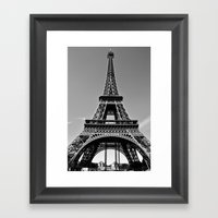 Tower Eiffel En Noir Framed Art Print