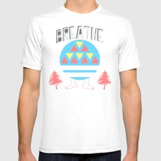 Breathe Mens Fitted Tee White SMALL