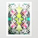 Kaleidoscope Deer Art Print