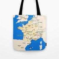 France map design Tote Bag
