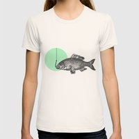 Mint Bubble Womens Fitted Tee Natural SMALL