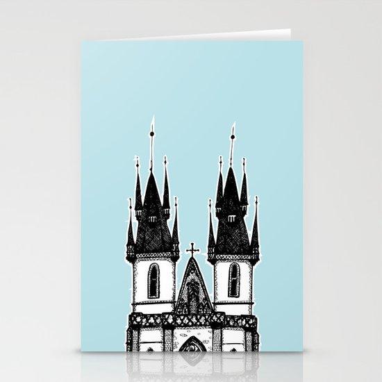 Tyn Church - Prague Stationery Card