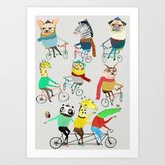Bikers. Art Print