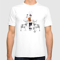 The Wilderness Mens Fitted Tee White SMALL