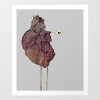 This is not a colorful heart Art Print