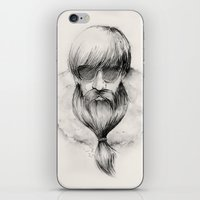 homeless hipster iPhone & iPod Skin