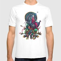 Color Setting Mens Fitted Tee White SMALL