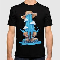 Intrusive Sky Mens Fitted Tee Black SMALL