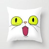 Cat Face 1 Throw Pillow