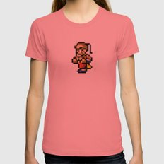 Final Fantasy II - Yang Womens Fitted Tee Pomegranate SMALL