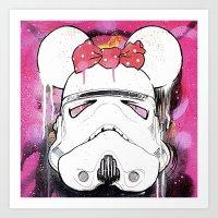 MINI TROOPER — On Pink Art Print