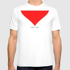 find you half (part 2 of 2) White SMALL Mens Fitted Tee
