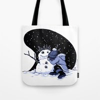 Sad Snow Tote Bag
