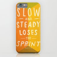 iPhone & iPod Case featuring slow and steady loses the sprint by randy mckee
