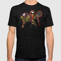 Little Elephant Mens Fitted Tee Tri-Black SMALL