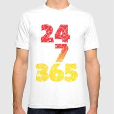 24-7/365 (Red hustle) Mens Fitted Tee White SMALL