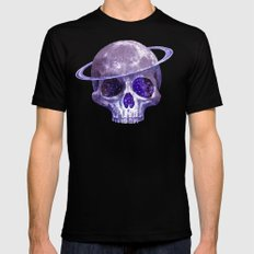 Cosmic Skull Black SMALL Mens Fitted Tee