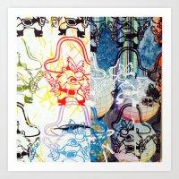 SPLIT YOSEMITE SAM Art Print
