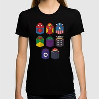 World's Mightiest Pocket… Womens Fitted Tee Black SMALL