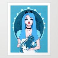 Alice Wore Blue Art Print
