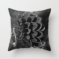 Throw Pillow featuring Black Dahlia by Renee Trudell