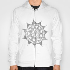 Black and White Circle Doodle Hoody