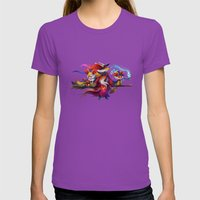 Fire Witches Womens Fitted Tee Ultraviolet SMALL