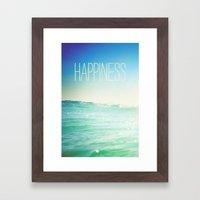 beachy happiness Framed Art Print