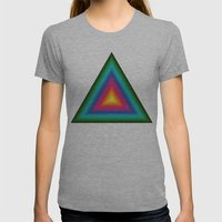 Triangle Of Life Womens Fitted Tee Athletic Grey SMALL