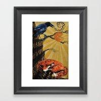 the Fox and Crow Framed Art Print