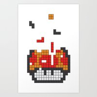 Super Mario Mushroom Tet… Art Print