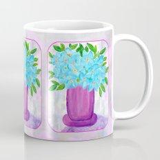 Magenta Vase with Aqua Flowers Mug