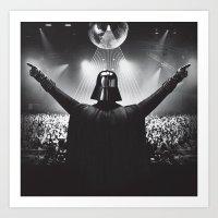 Darth Vader rocks the party Art Print