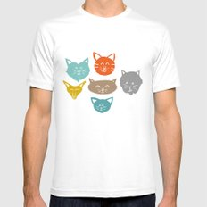 Cats (cats) SMALL Mens Fitted Tee White