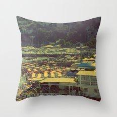 Beach in Amalfi, Italy Throw Pillow