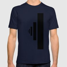 SOMEWHERE IN NOWHERE Mens Fitted Tee Navy SMALL
