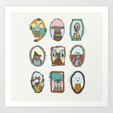 Animal Portraits Art Print