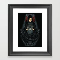 catch the venus Framed Art Print