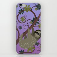 Sloth In A Tree iPhone & iPod Skin